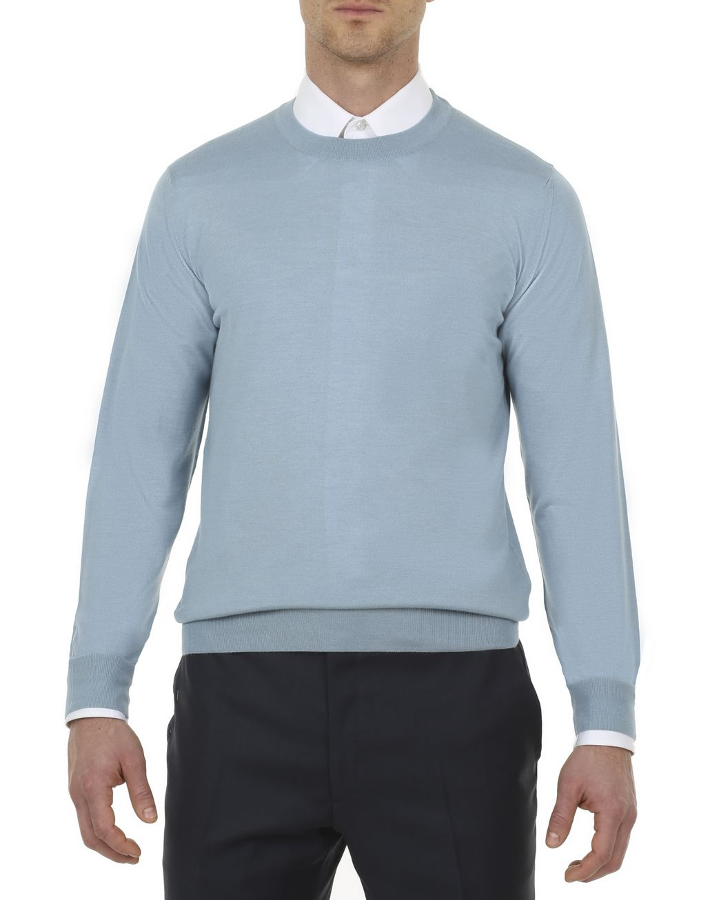BRIONI Nile Blue Sweater Knitwear [*** pickupInStoreShippingNotGuaranteed_info ***] r