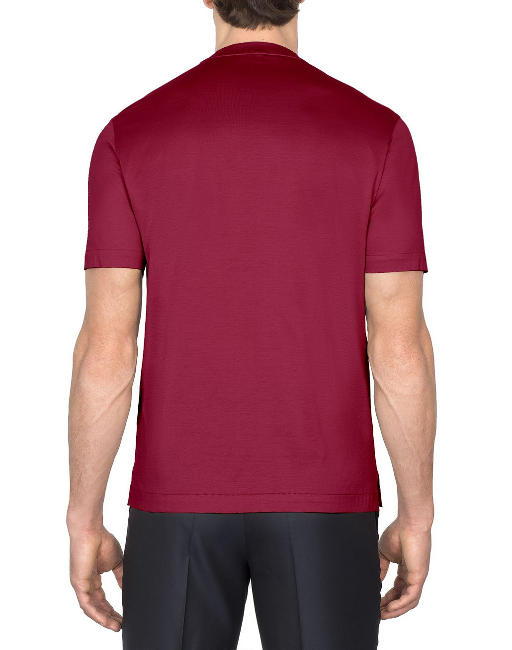 BRIONI Bordeaux Logoed T-Shirt T-Shirts & Polos [*** pickupInStoreShippingNotGuaranteed_info ***] d