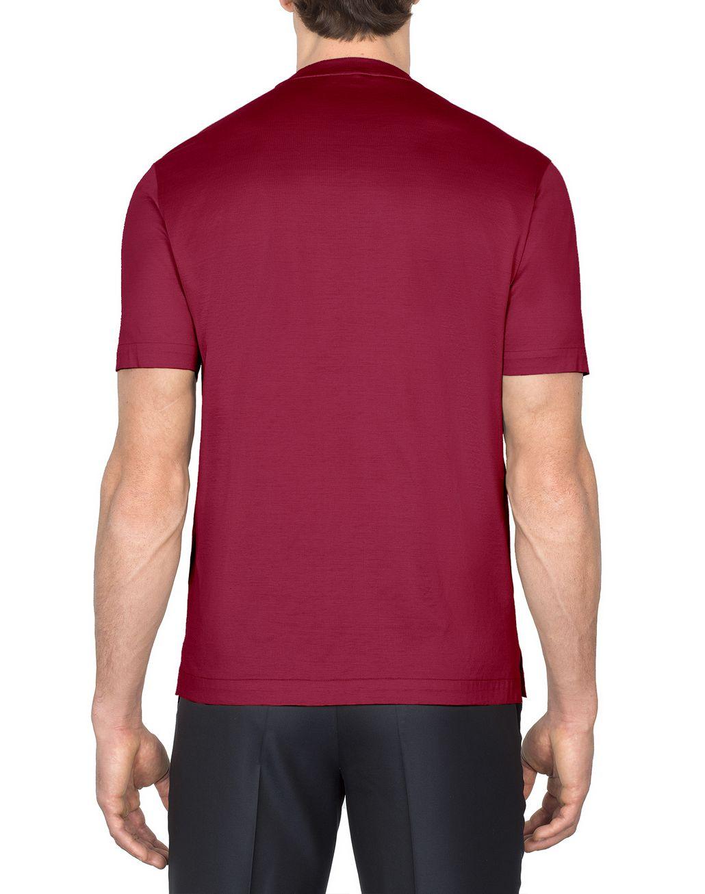 BRIONI Bordeaux Logoed T-Shirt T-Shirts & Polos Man d