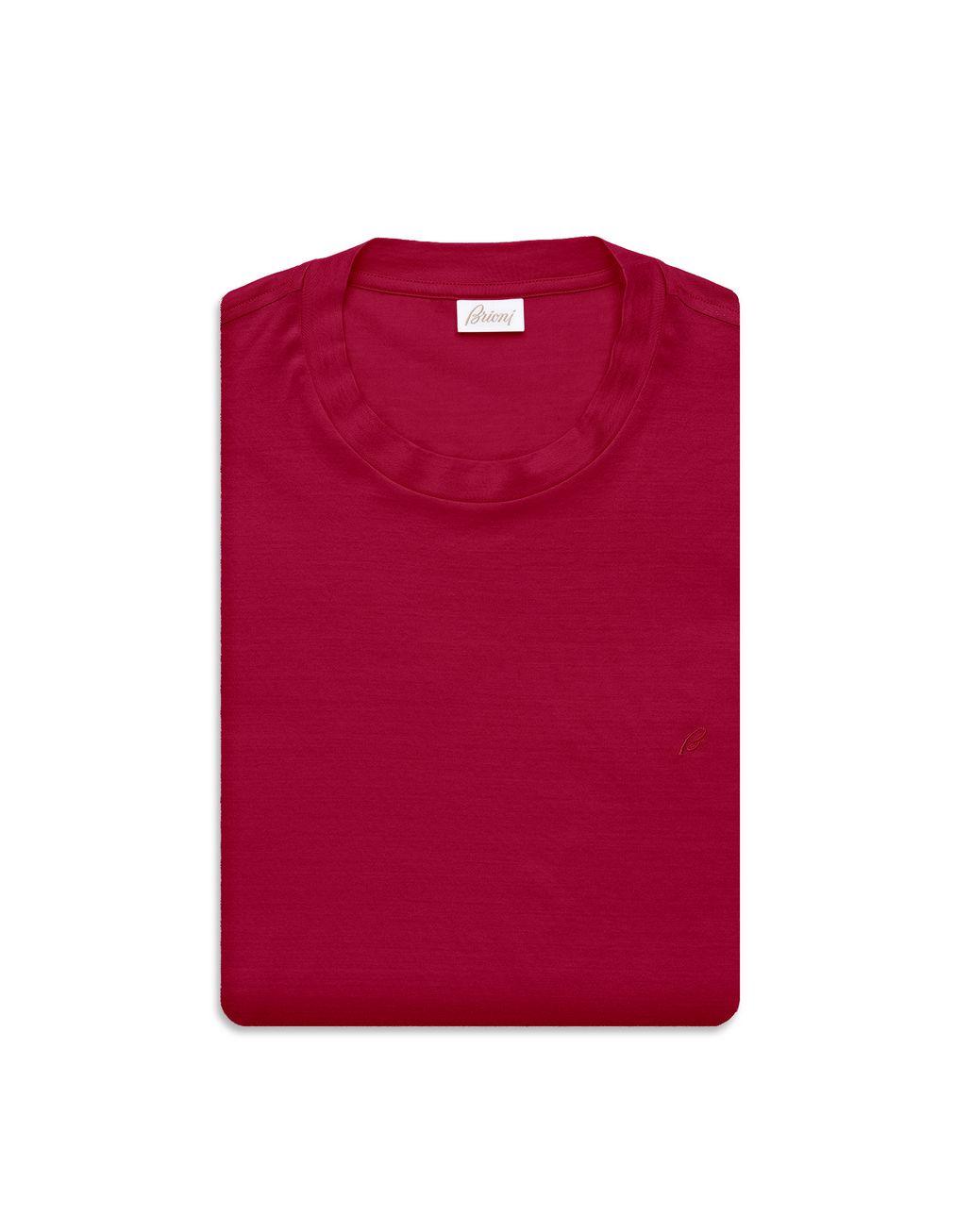 BRIONI Bordeaux Logoed T-Shirt T-Shirts & Polos Man e