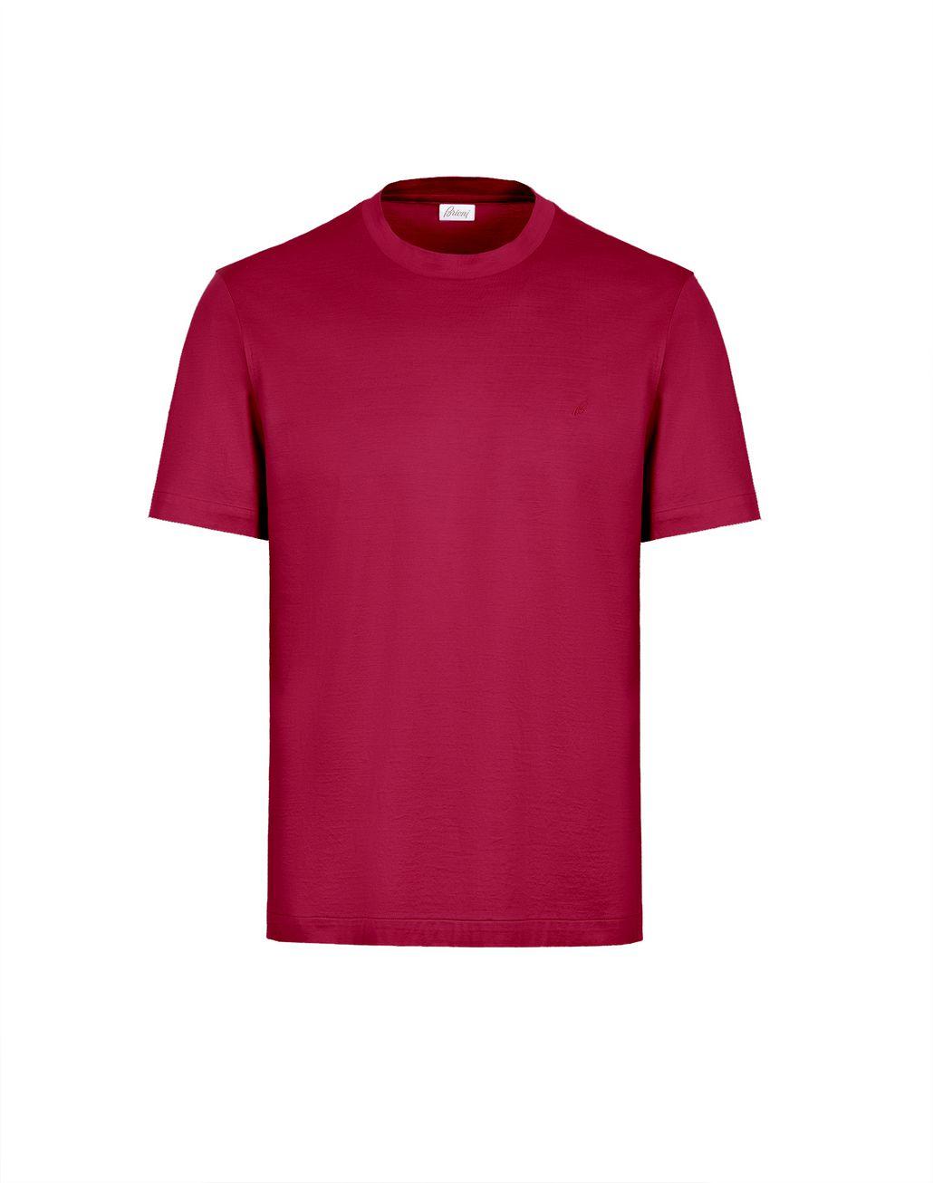 BRIONI Bordeaux Logoed T-Shirt T-Shirts & Polos Man f