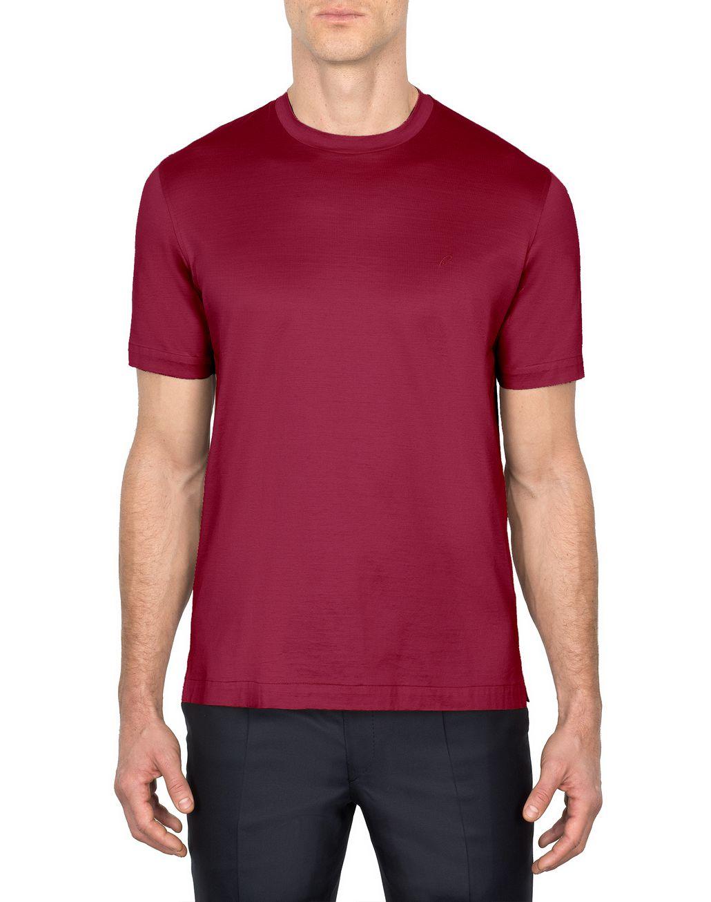 BRIONI Bordeaux Logoed T-Shirt T-Shirts & Polos Man r