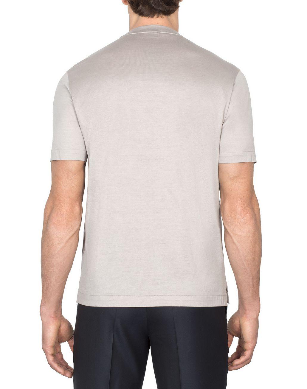 BRIONI Бежевая футболка с логотипом Футболки и поло Для Мужчин d