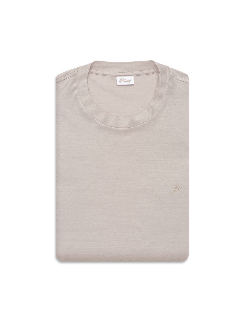 BRIONI Beige Logoed T-Shirt T-Shirts & Polos [*** pickupInStoreShippingNotGuaranteed_info ***] e