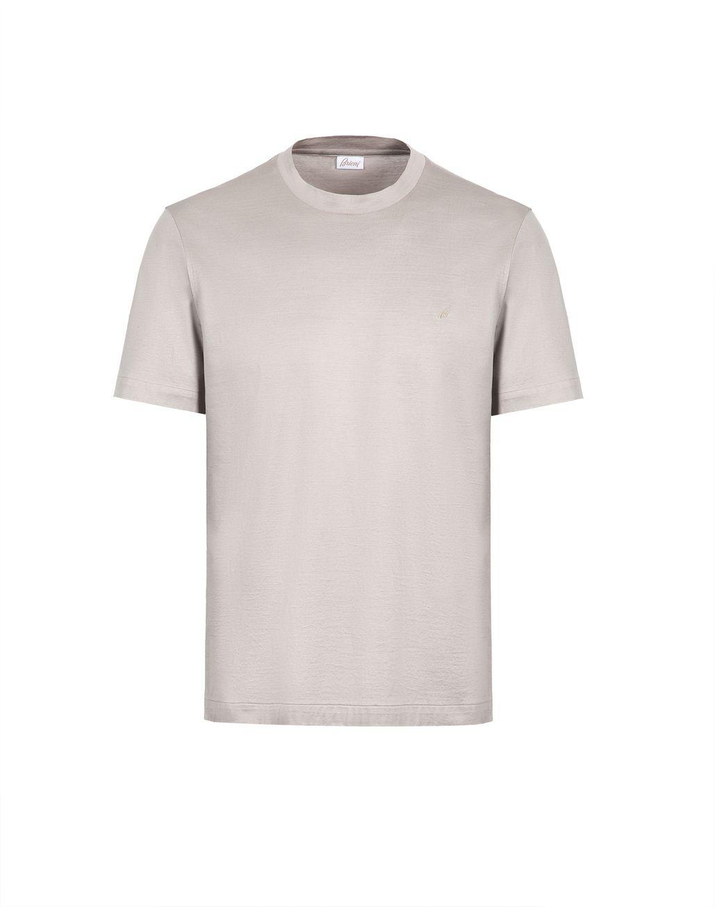 BRIONI Бежевая футболка с логотипом Футболки и поло Для Мужчин f