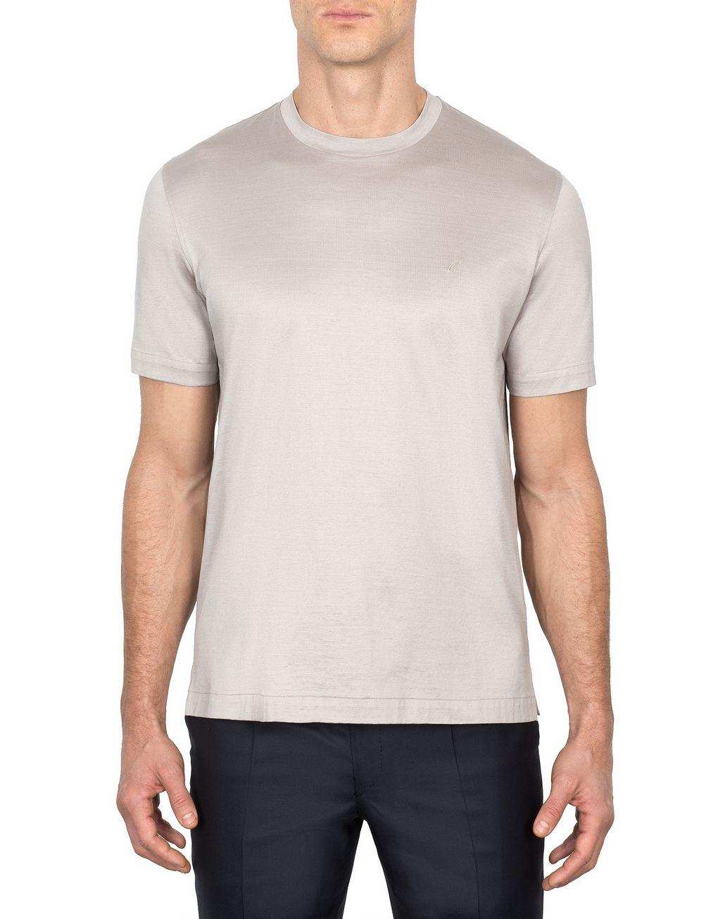 BRIONI Бежевая футболка с логотипом Футболки и поло Для Мужчин r