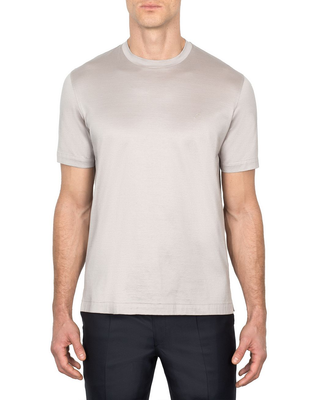 BRIONI Beige Logoed T-Shirt T-Shirts & Polos Man r