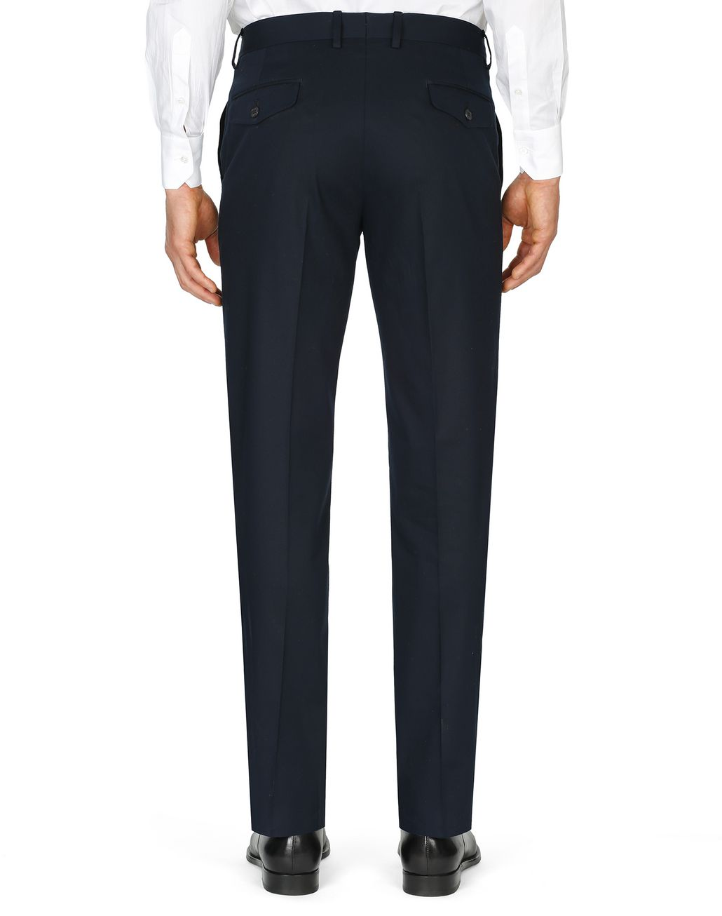 BRIONI Dark Blue Tignes Chino Trousers Trousers Man d
