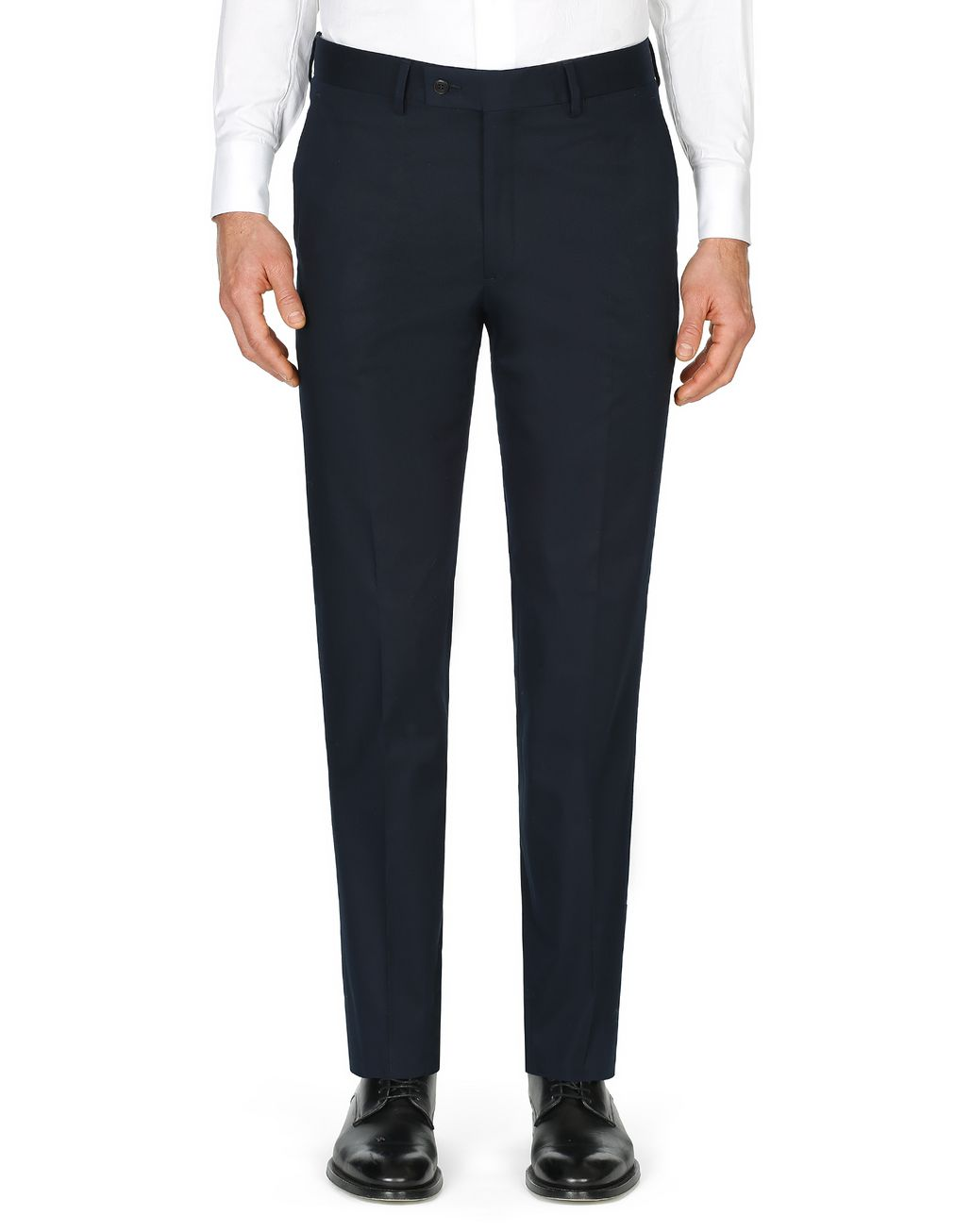 BRIONI Dark Blue Tignes Chino Trousers Trousers Man r