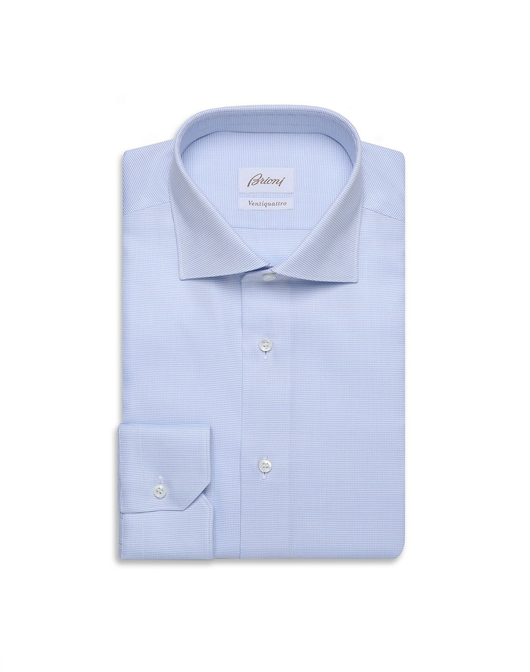 BRIONI Sky Blue and White Formal Shirt Formal shirt Man f