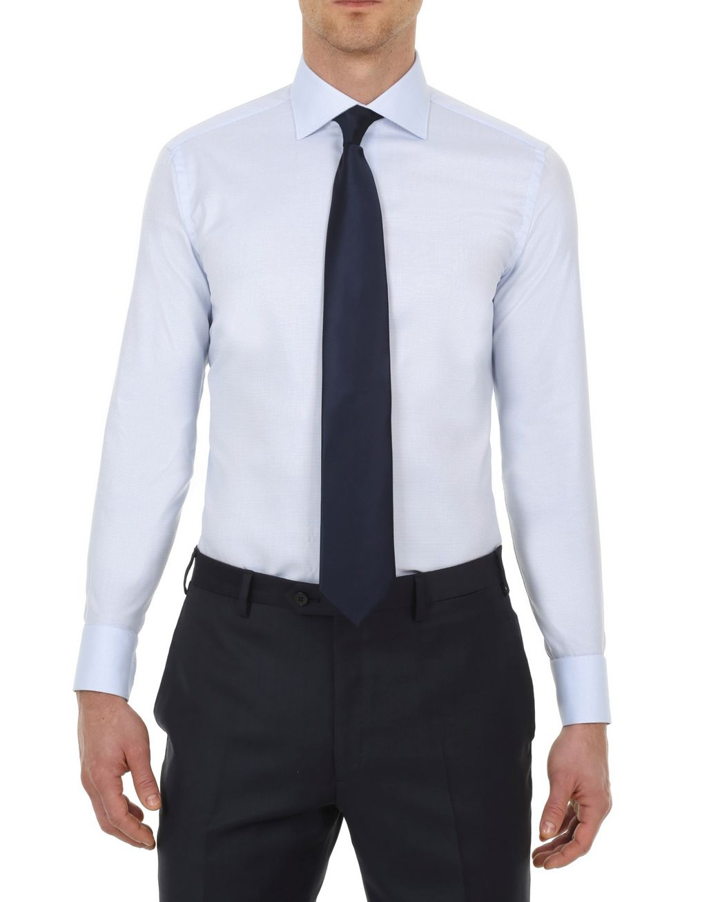 BRIONI Sky Blue and White Formal Shirt Formal shirt Man r