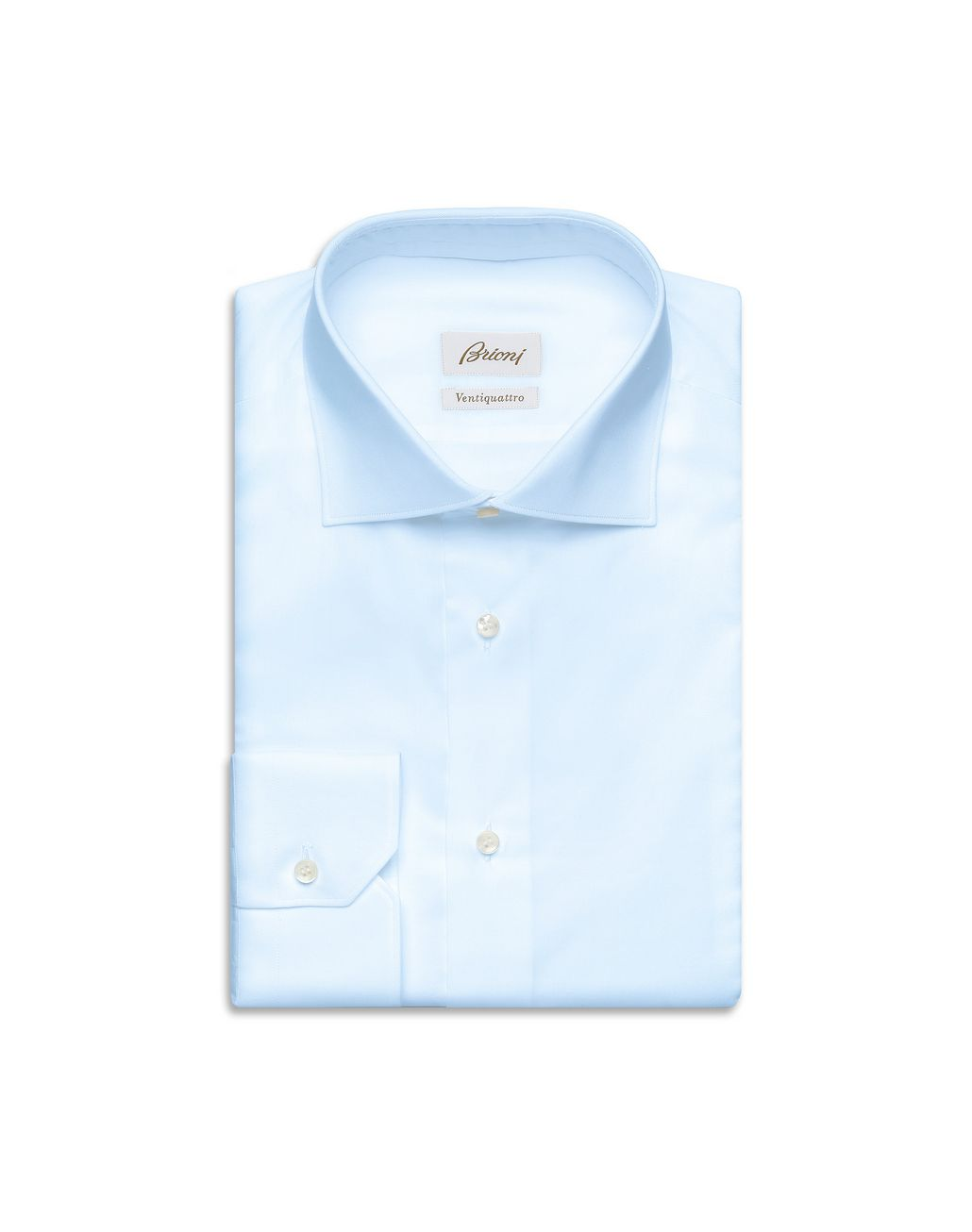 BRIONI Sky Blue Twill Formal Shirt  Formal shirt Man f