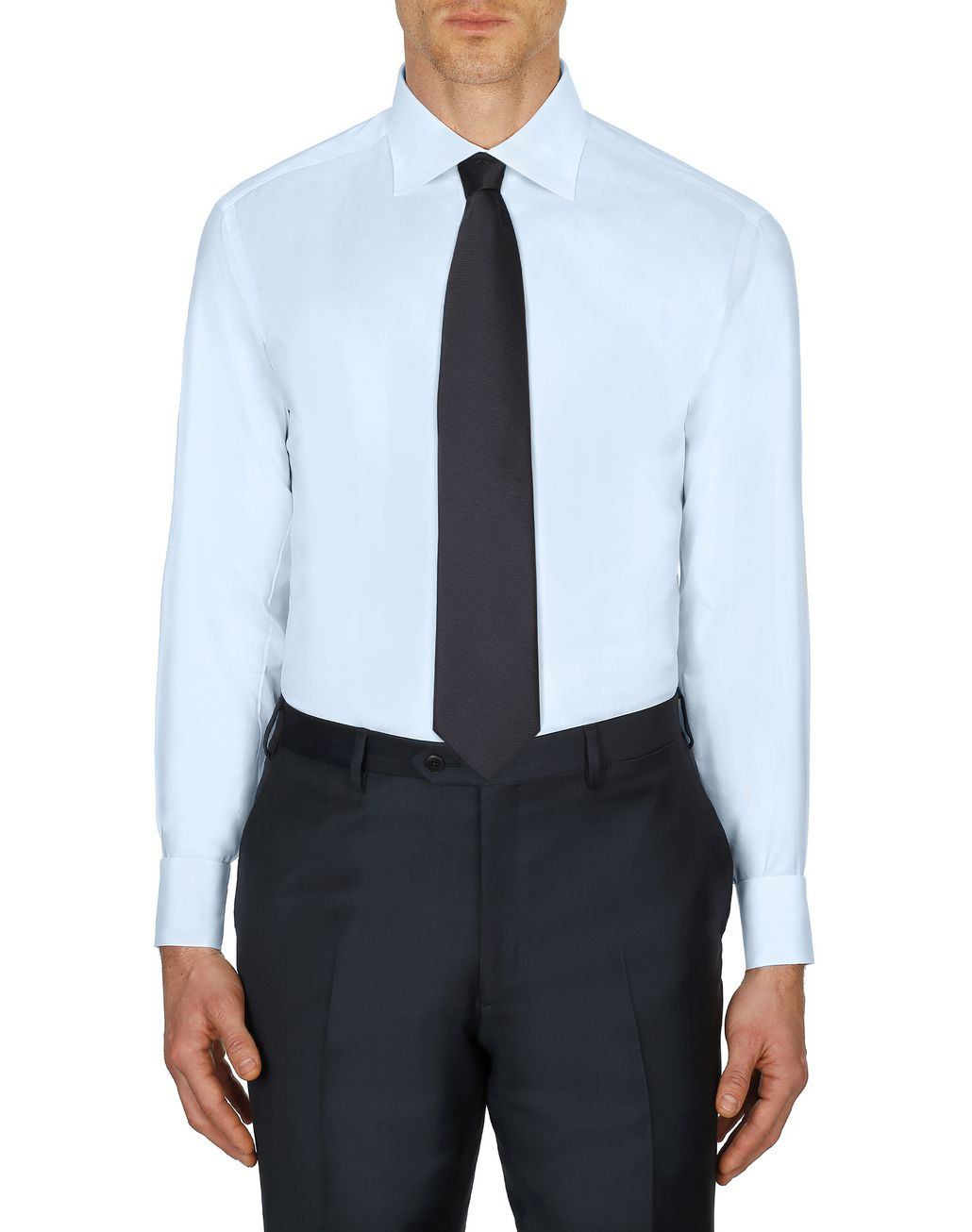 BRIONI Sky-Blue Twill Formal Shirt  Formal shirt Man r