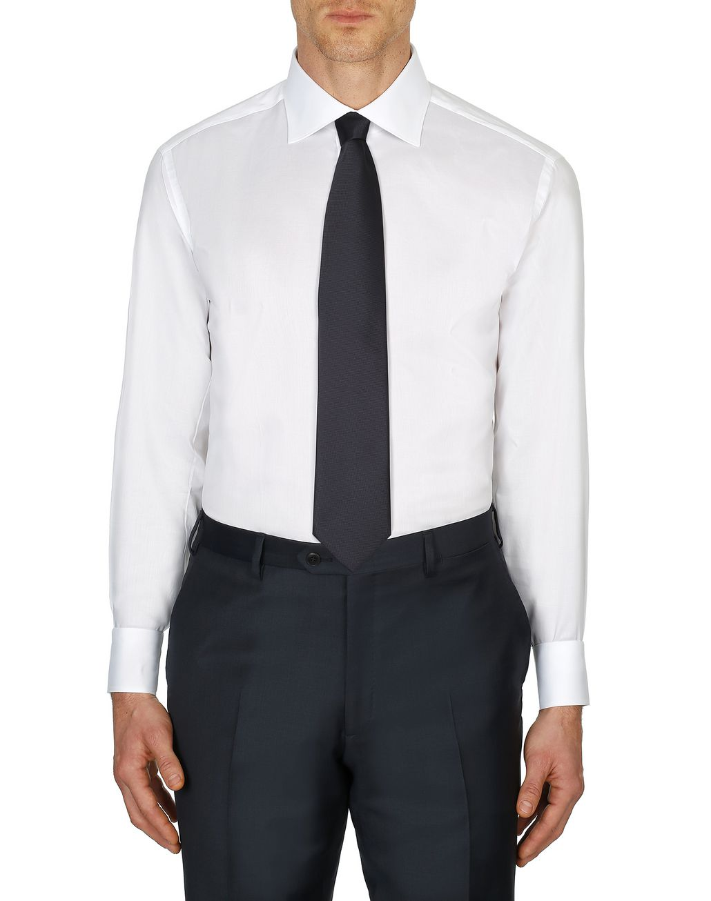 BRIONI White Twill Formal Shirt  Formal shirt Man r