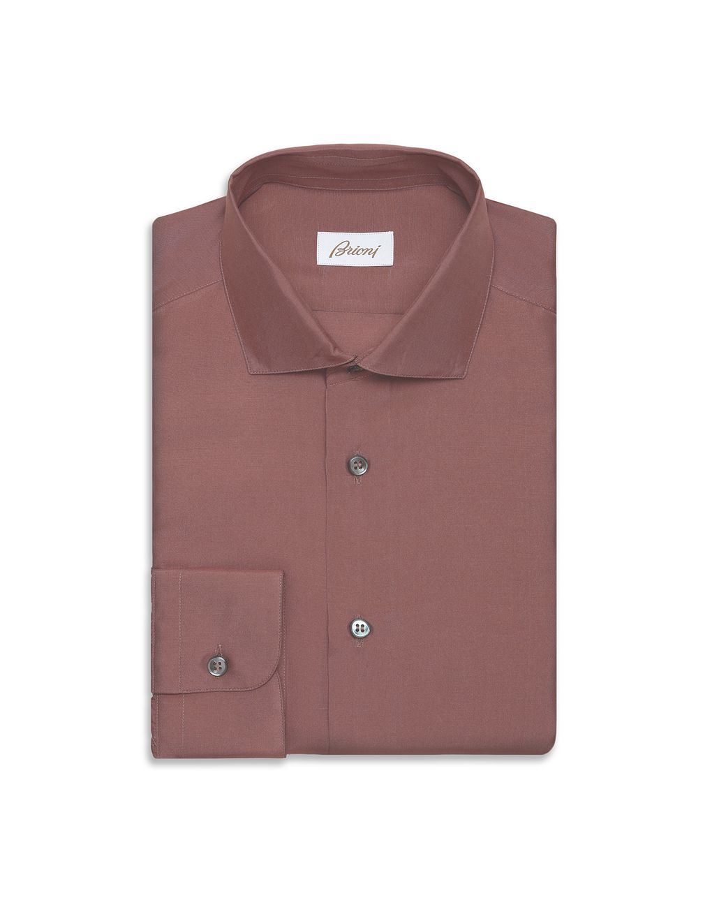 BRIONI Purple Silk Shirt  Leisure shirt Man f