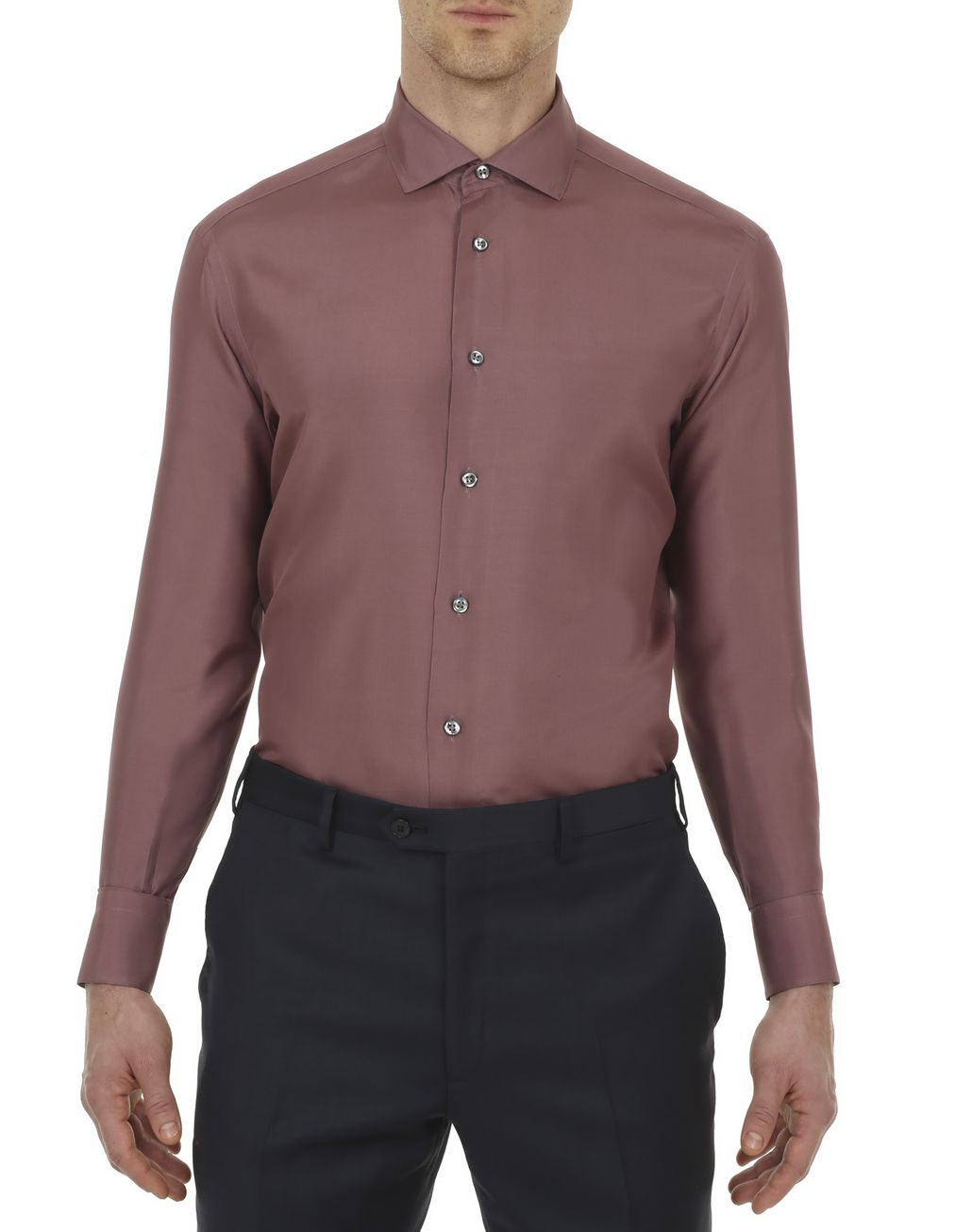 BRIONI Purple Silk Shirt  Leisure shirt Man r