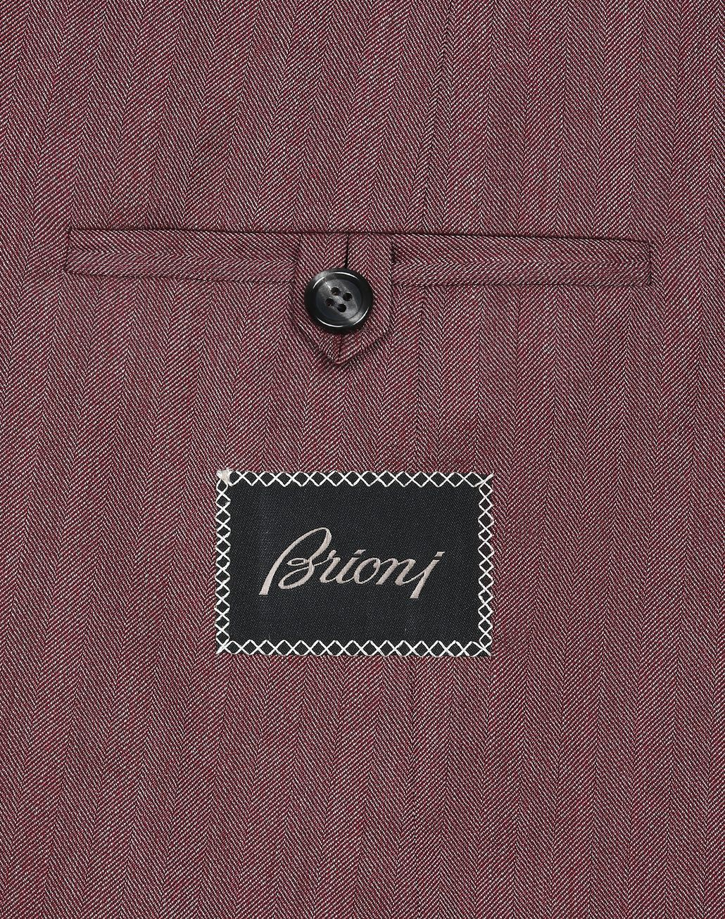 BRIONI Veste Plume à chevrons bordeaux Suits & Jackets Homme a