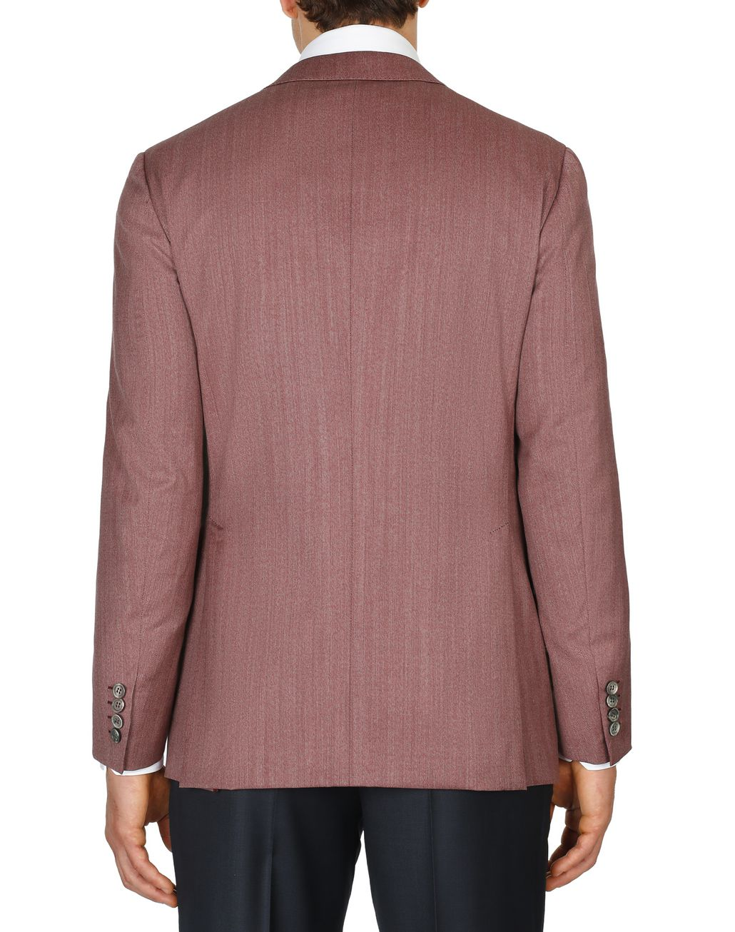 BRIONI Bordeaux Herringbone Plume Jacket Suits & Jackets Man d
