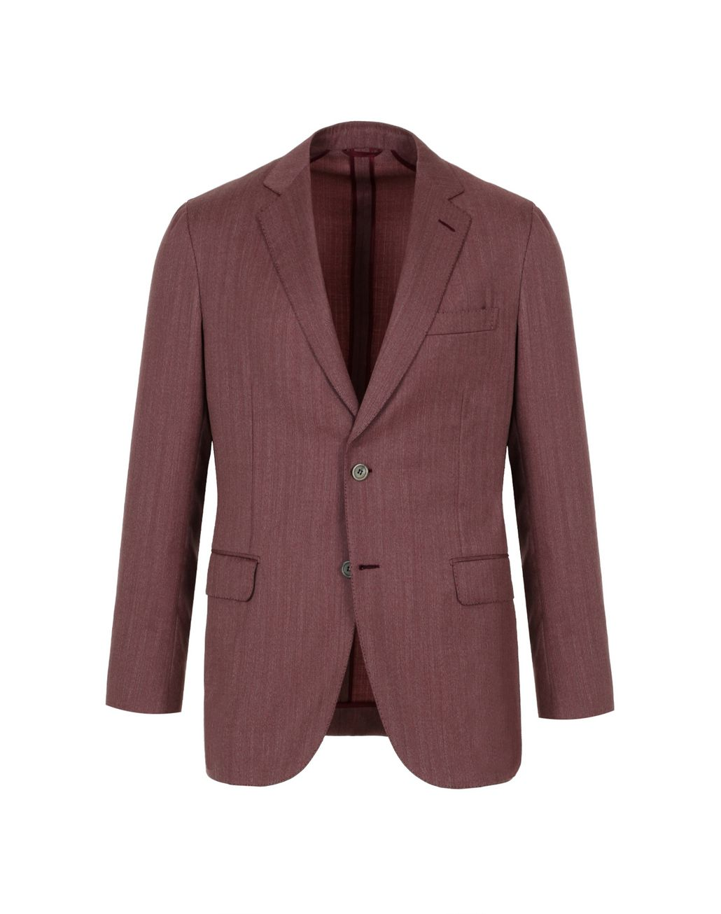BRIONI Bordeaux Herringbone Plume Jacket Suits & Jackets Man f