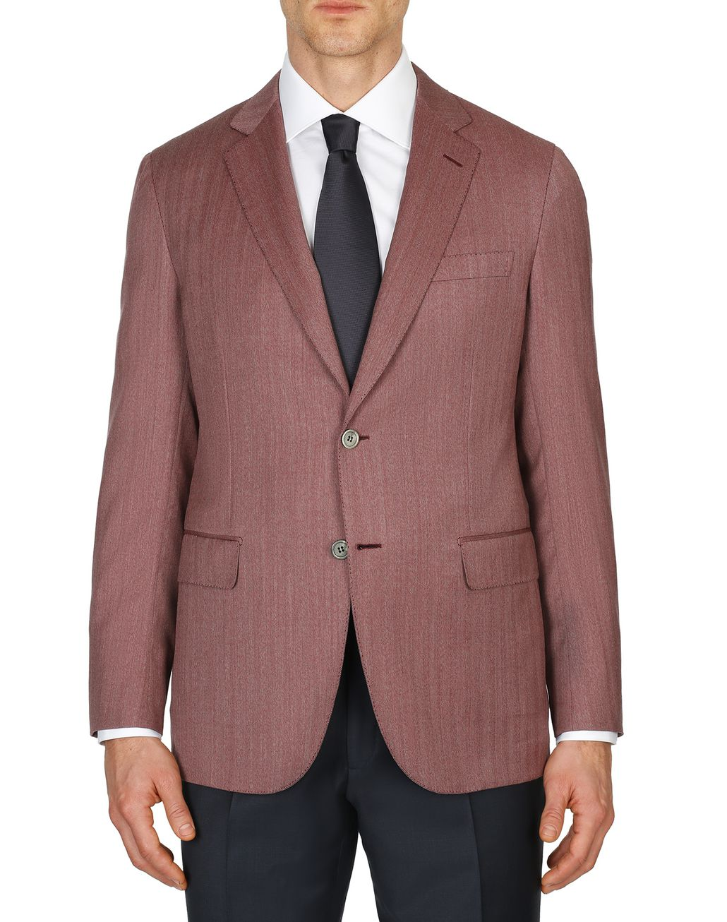 BRIONI Bordeaux Herringbone Plume Jacket Suits & Jackets Man r