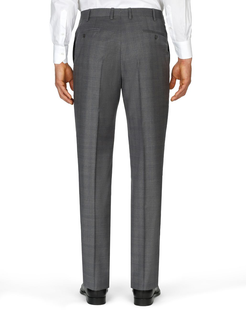 BRIONI Graphite Tigullio Check Trousers Trousers [*** pickupInStoreShippingNotGuaranteed_info ***] d