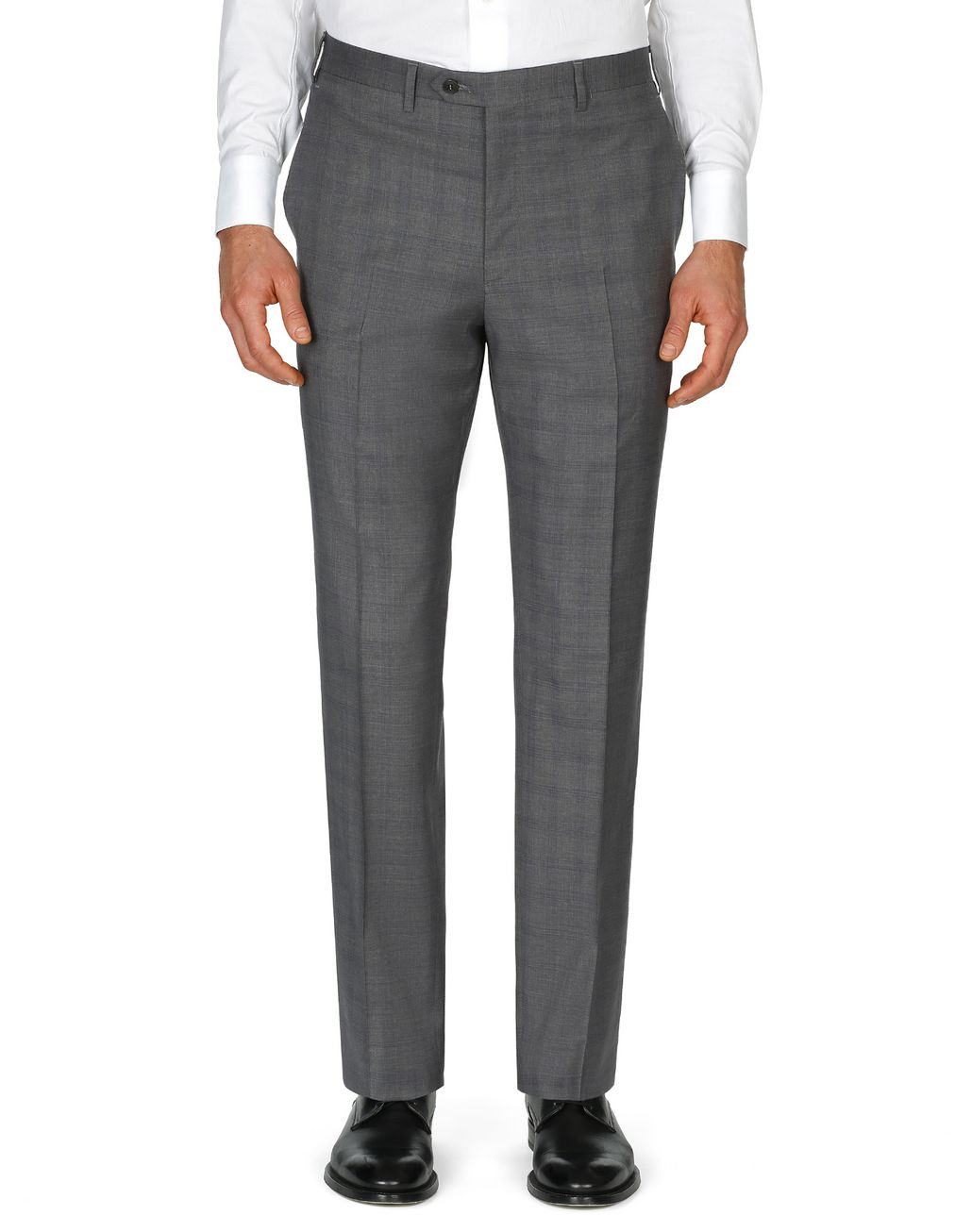 BRIONI Graphite Tigullio Check Pants Trousers Man r