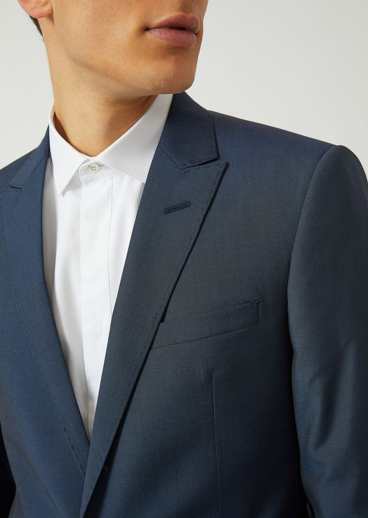 8d74bcac046 ... SLIM FIT SUIT IN TROPICAL WOOL AND SILK. EMPORIO ARMANI