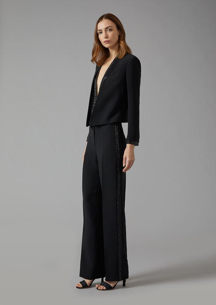 quality design 04383 8a5a1 Tuxedo in seta con strass