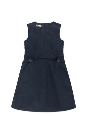 Marni BLUE COTTON SLEEVELESS DRESS Woman
