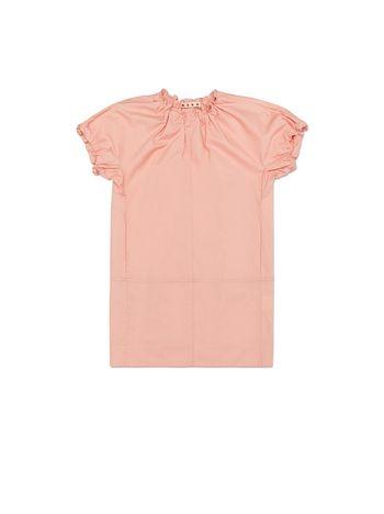 Marni HALF SLEEVES DRESS IN ROSE POPELINE Woman