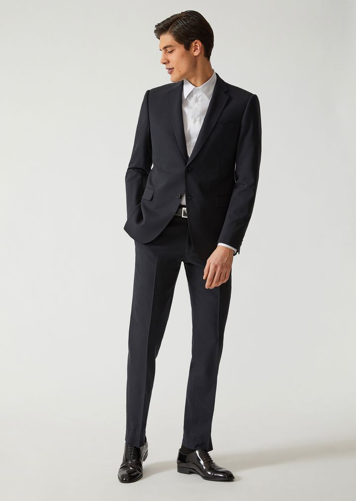 7bf18fa101 Suit in stretch virgin wool | Man | Emporio Armani