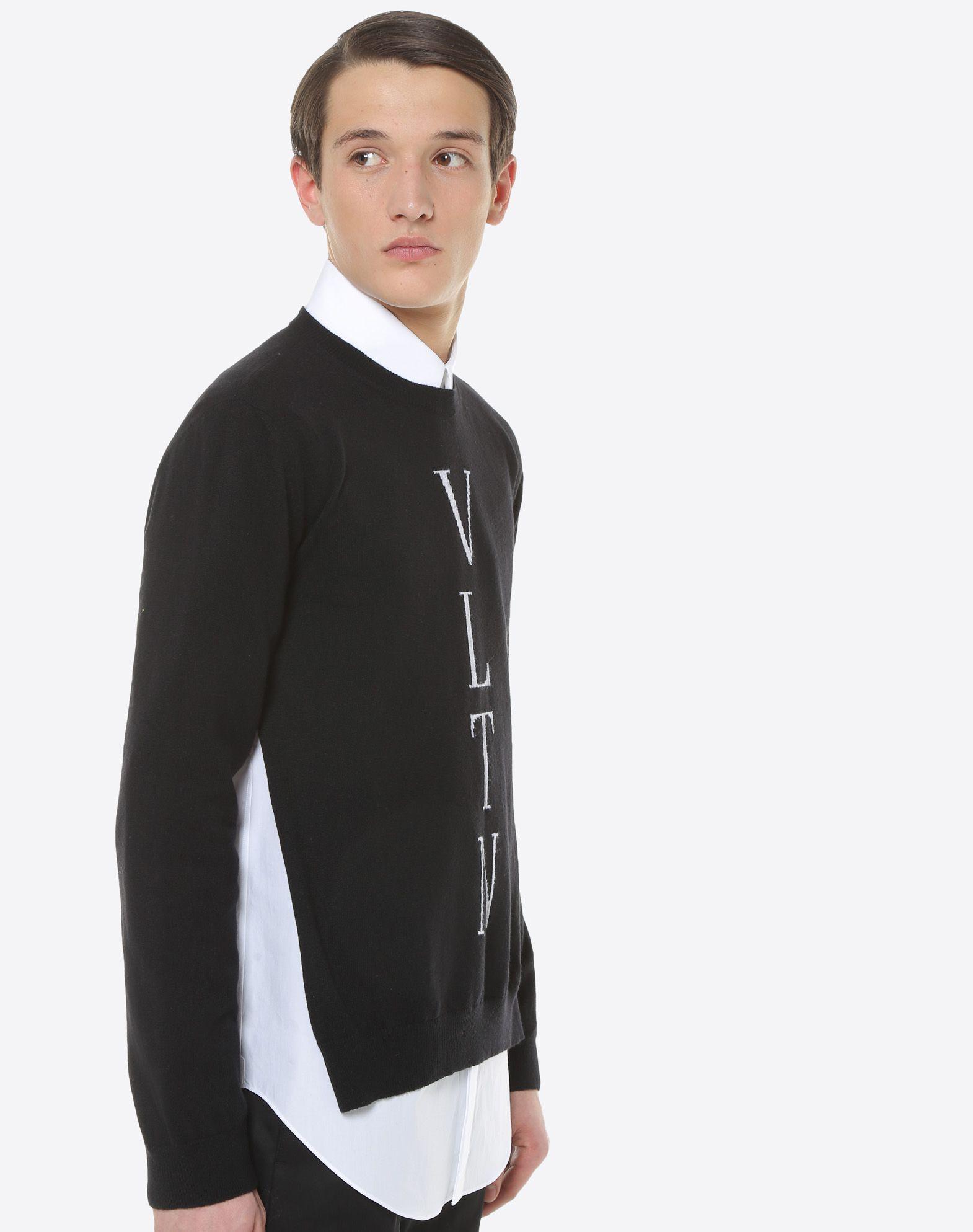 VALENTINO UOMO VLTN inlay sweater Knit top U a