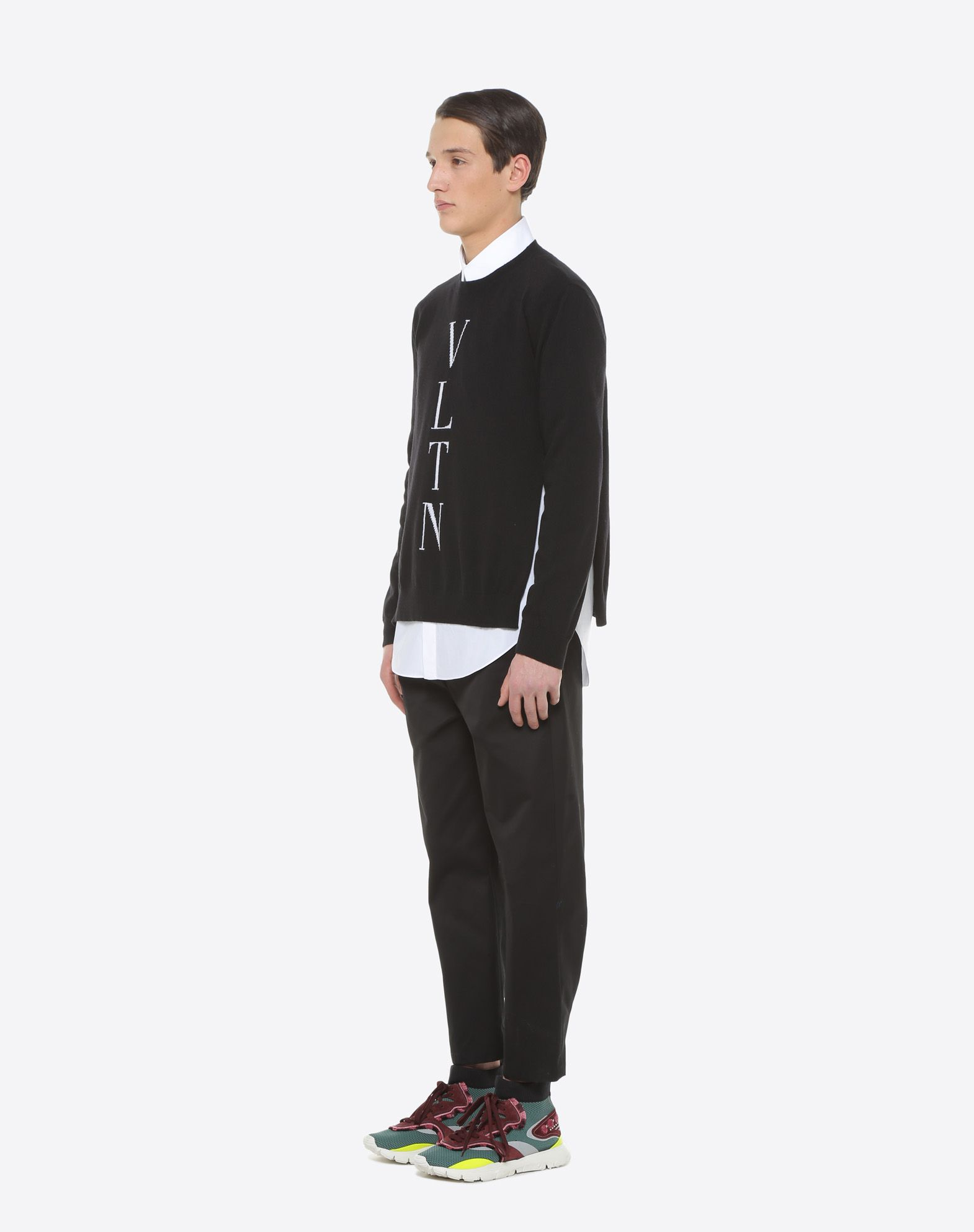 VALENTINO UOMO VLTN inlay sweater Knit top U d
