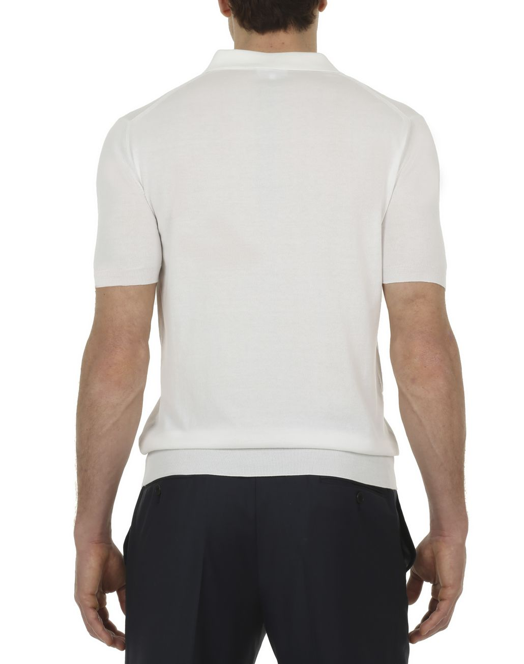 BRIONI Ivory and Taupe Polo Shirt in Cotton with Silk Details T-Shirts & Polos Man d