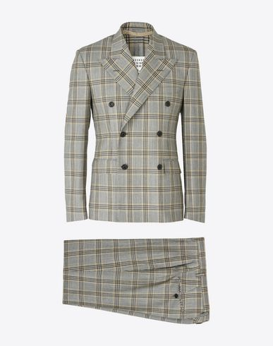MAISON MARGIELA Suit U Double breasted check wool suit f