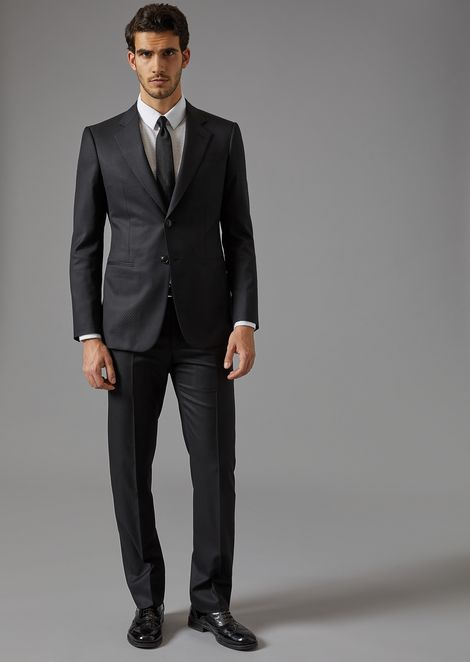 Trader Blu suit in in batavia twill