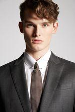 DSQUARED2 Fine Textured Wool Tokyo Suit Suit Man