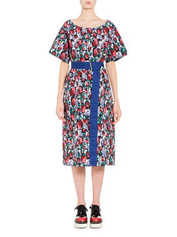 Marni Dress in poplin with Callas print Woman