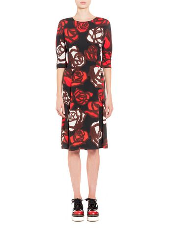 Marni Dress in viscose with Roma print Woman
