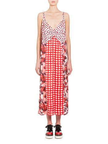 Marni Dress in satin with Ingrid print Woman