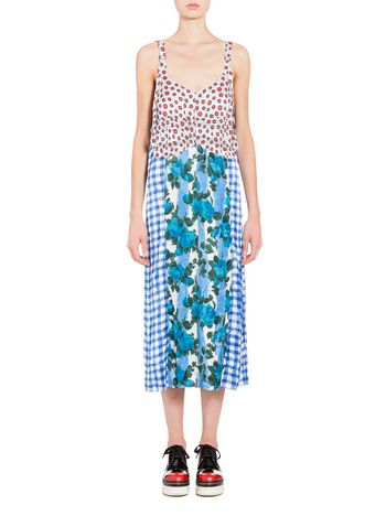 Marni Dress in satin with Anita print Woman