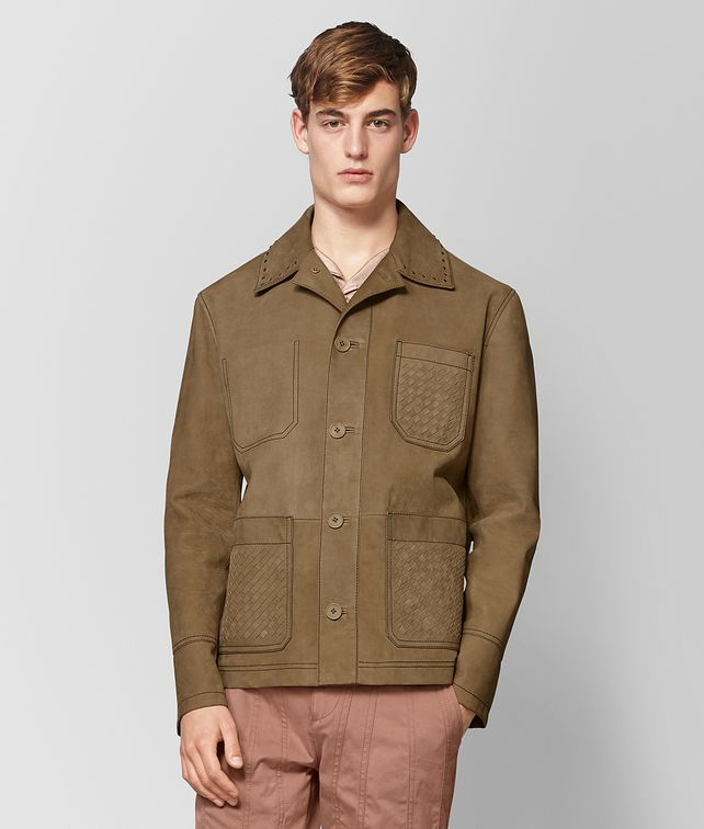 BOTTEGA VENETA DARK CAMEL SUEDE JACKET Outerwear and Jacket Man fp