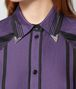 BOTTEGA VENETA POLO IN COTONE DARK LILAC NERO Maglieria o camicia o top Donna ap