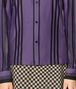 BOTTEGA VENETA POLO IN COTONE DARK LILAC NERO Maglieria o camicia o top Donna ep
