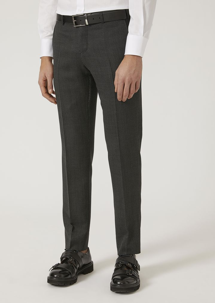 EMPORIO ARMANI Suit in stretch virgin wool Suit Man b