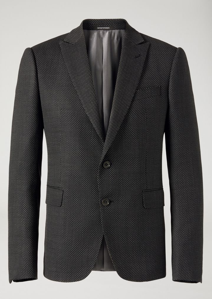 EMPORIO ARMANI Suit in stretch virgin wool Suit Man d