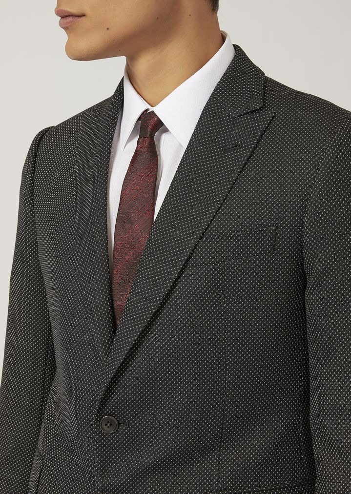 EMPORIO ARMANI Suit in stretch virgin wool Suit Man e