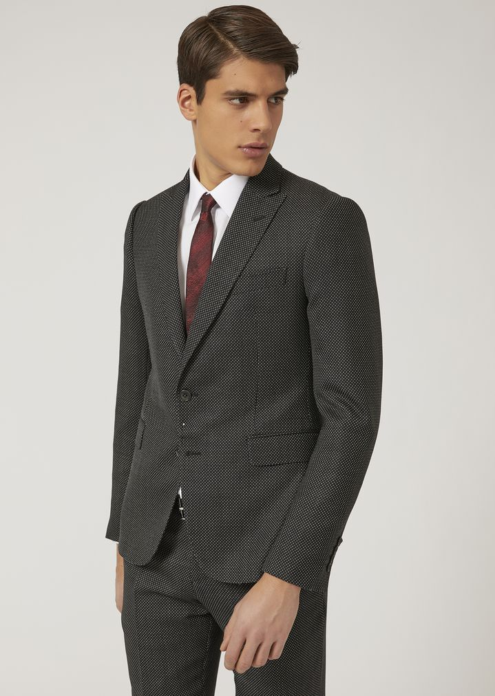 EMPORIO ARMANI Suit in stretch virgin wool Suit Man r