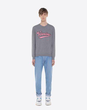 VALENTINO Cardigan U Oversize cardigan with ALL WAYS lettering r
