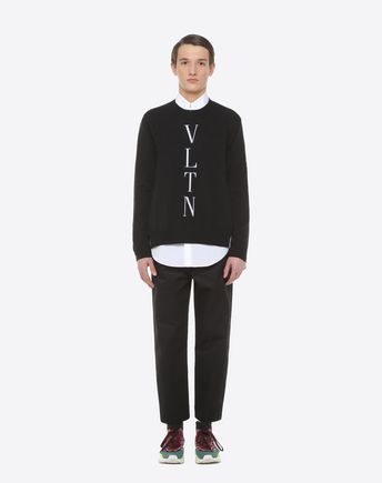 VALENTINO Knit top U VLTN inlay sweater r